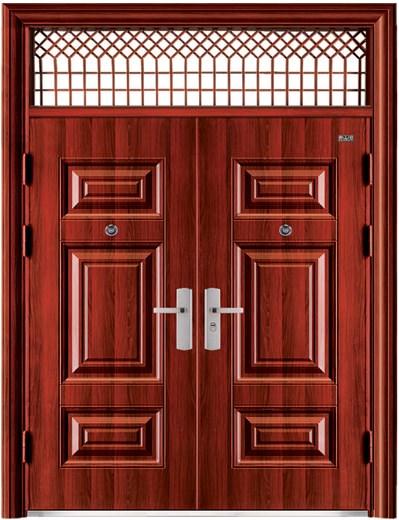 cửa thép vân gỗ 2 cánh, cửa thép 2 cánh, cửa thép vân hai cánh