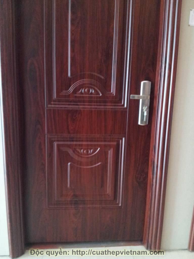 cửa thép vân gỗ Đốc Ngữ